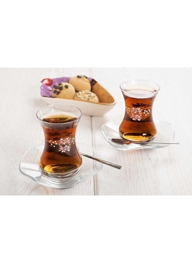 Tantitoni 12 Parça Blossom Çay Bardağı Takımı Renkli